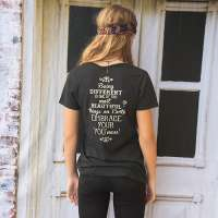 Live Happy Charcoal Perfect Tee - Blessed and Beautiful Boutique