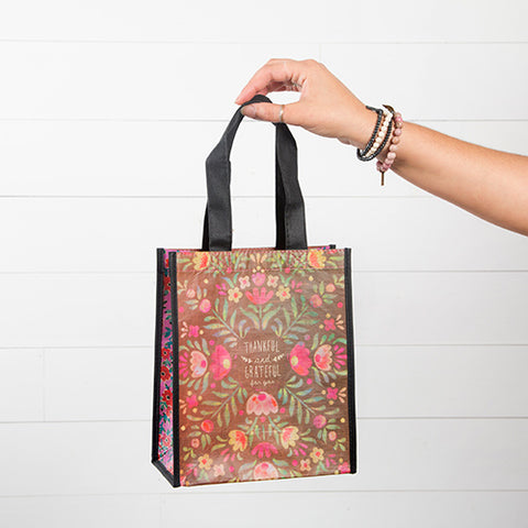 Thankful & Grateful Medium Recycled Bag - Blessed and Beautiful Boutique