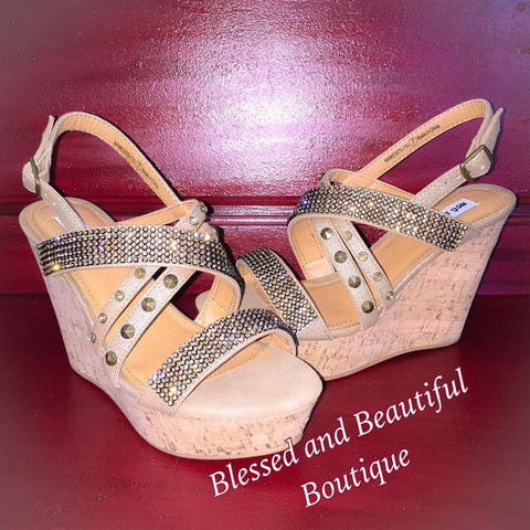 Viti Gold Wedge - Blessed and Beautiful Boutique