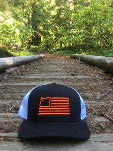 Black & Orange Trucker