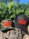 Camo/Black & Orange Trucker