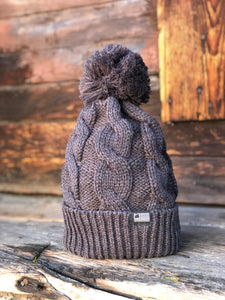 Charcoal Cable Knit Beanie