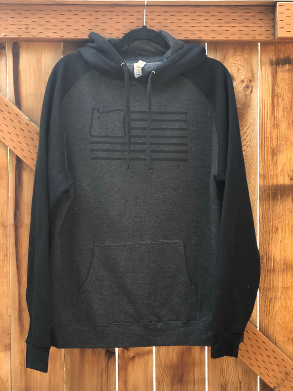 Black/Charcoal Hooded Sweatshirt