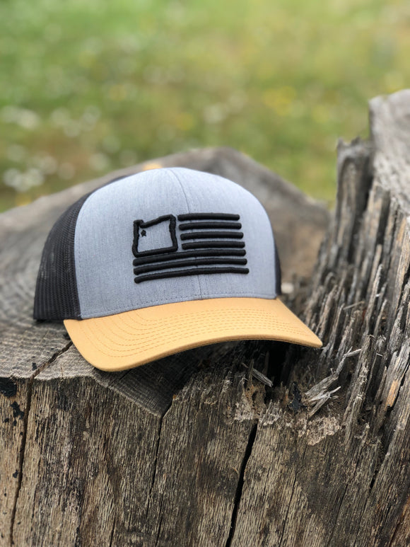 Heather Grey/Amber/Black Trucker