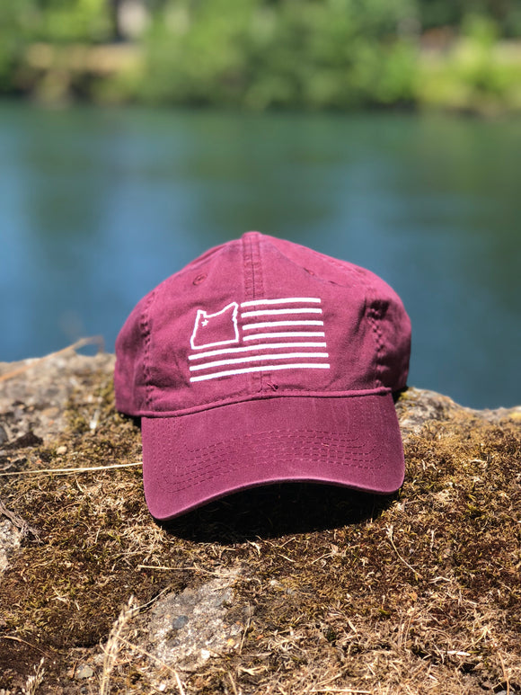 Vintage Maroon Dad Hat