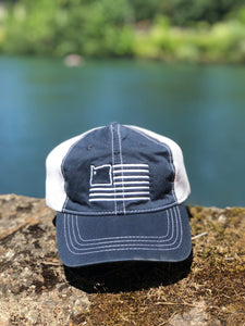Navy/White Dad Hat