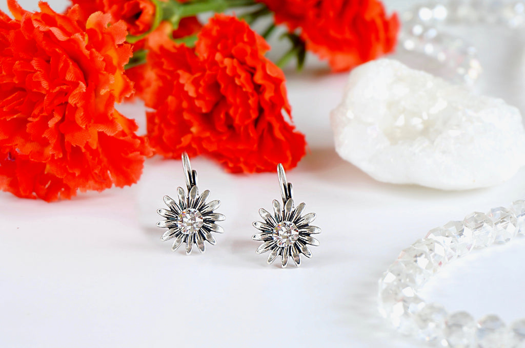 Floral earrings DIVUS divuscreations