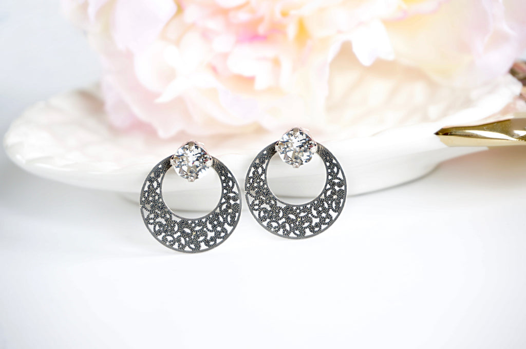 Antique silver earrings from divsucreations