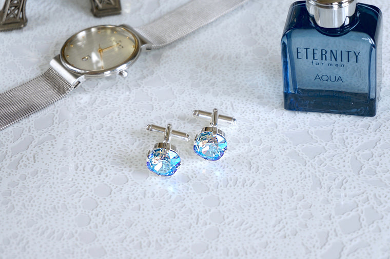 Blue sapphire cufflinks for me DIVUSCREATIONS