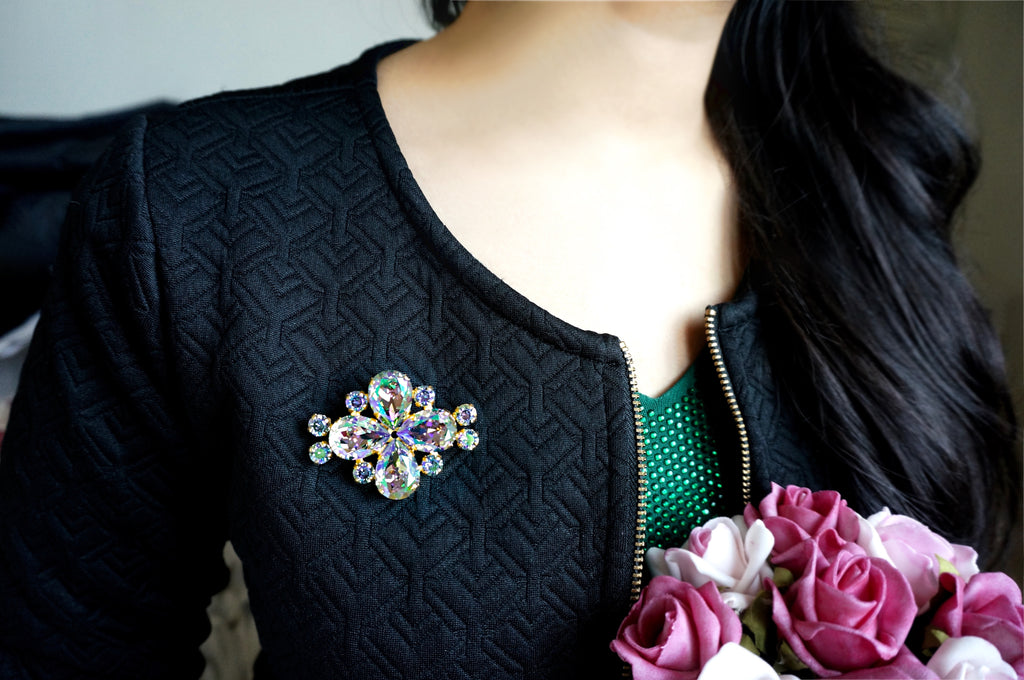 Brooch for winter jackets & coats shop online India divuscreations