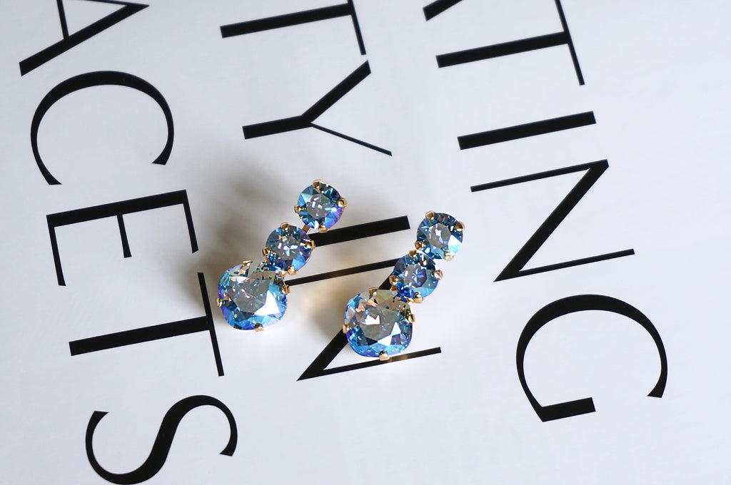 Earrings from DIVUS, crystal jewellery