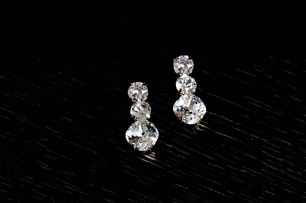 Earrings made with Swarovski crystals from DIVUS