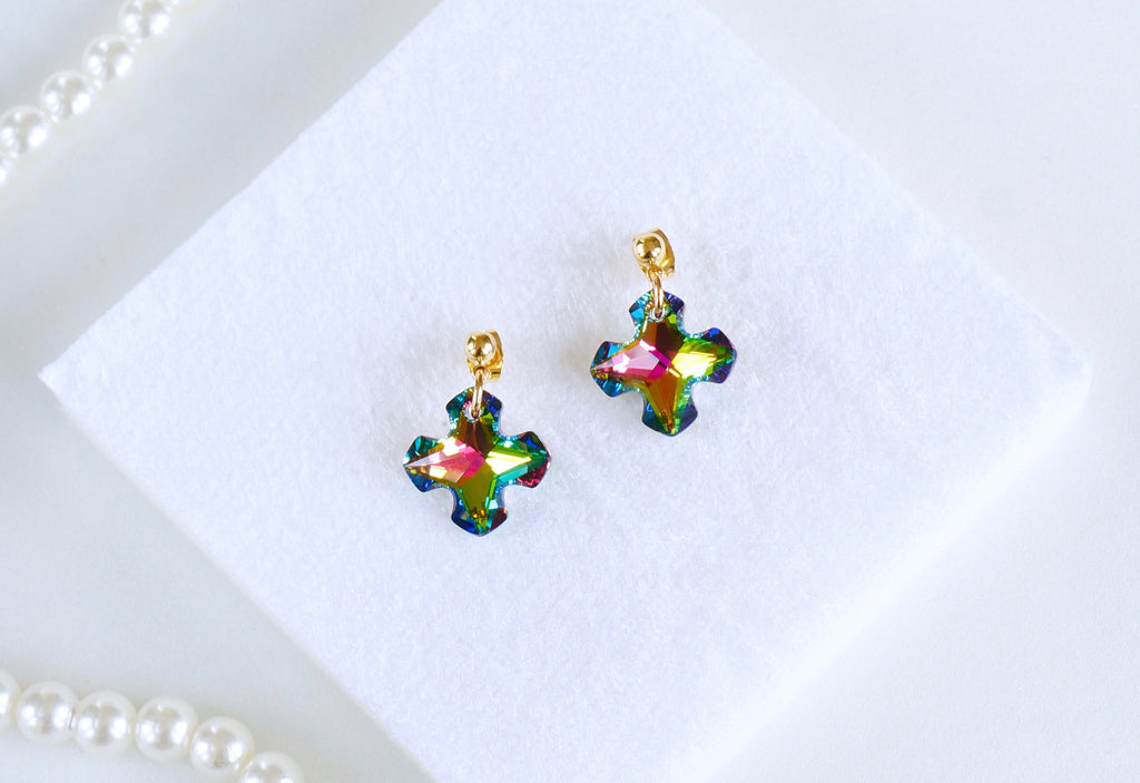 Affordable earrings made with Swarovski crystals India
