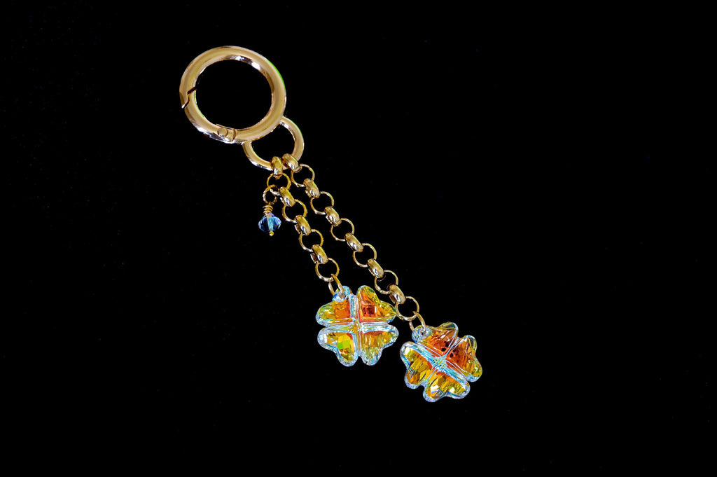Shop online for fashion accessories from Divus India. Bag charms made with Swarovski crystals