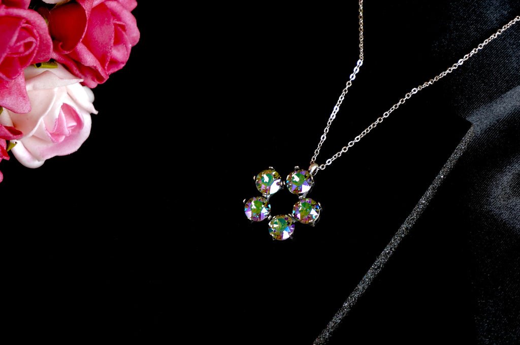 Pendant made with Swarovski crystals from Divuscreations India, shop online