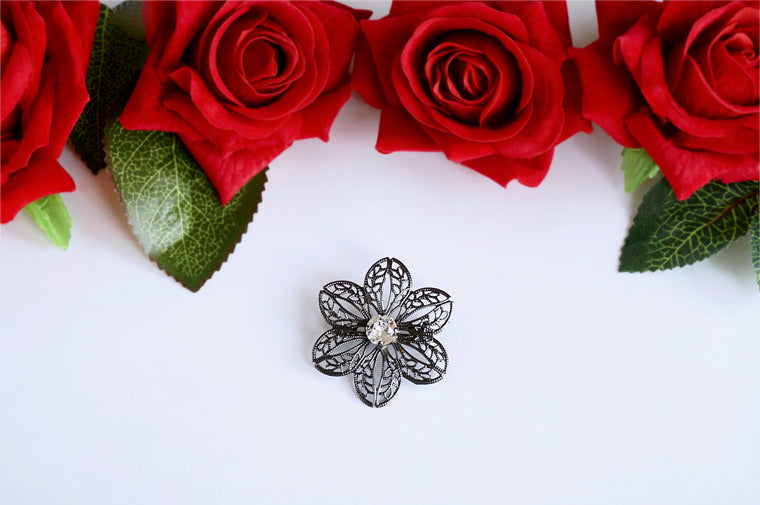 Swarovski floral brooch shop online India divuscreations