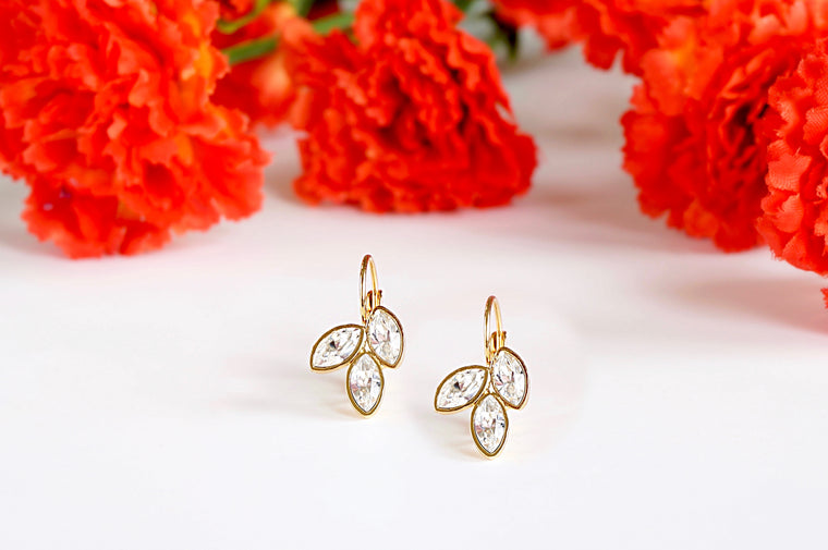 Swarovski studded earrings divuscreations