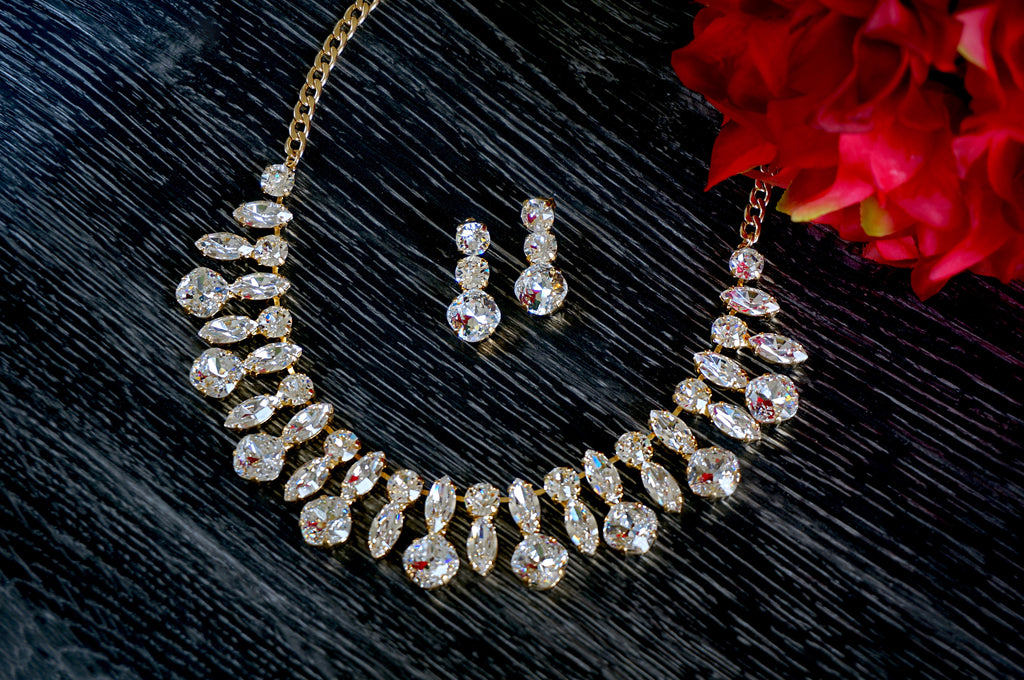 necklace made with Swarovski crystals divuscreations india