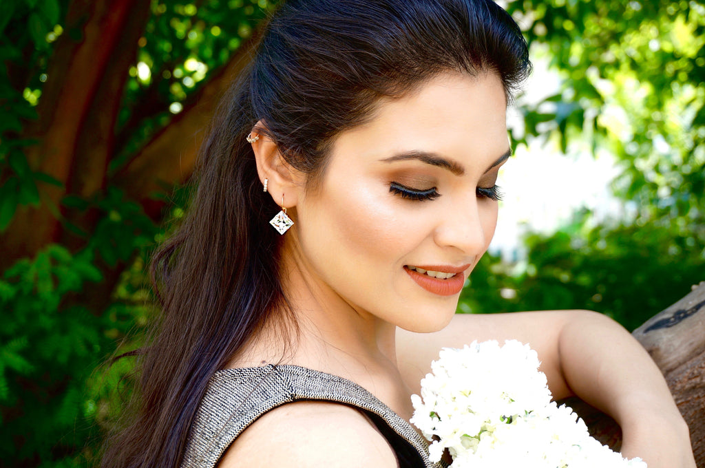 princess cut lever back earrings divuscreations
