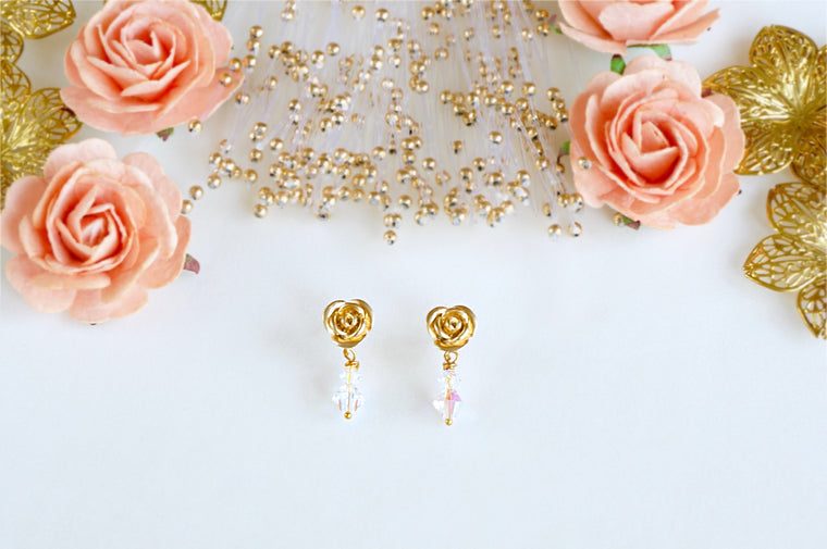 Matte gold earrings perfect for daily wear divuscreations india