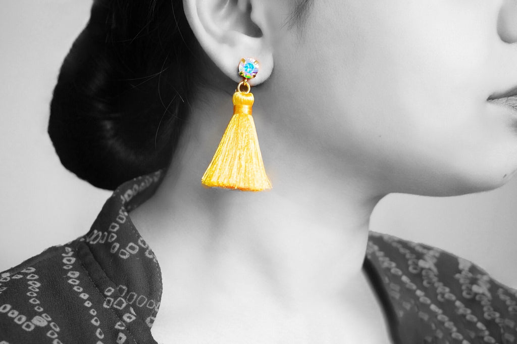 Beautiful tassel earrings divuscreations india