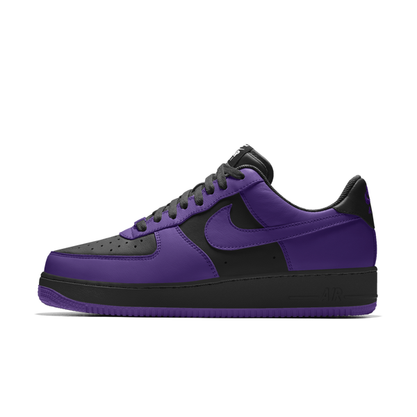 Air FORCE 1 LOW iD Black & Purple