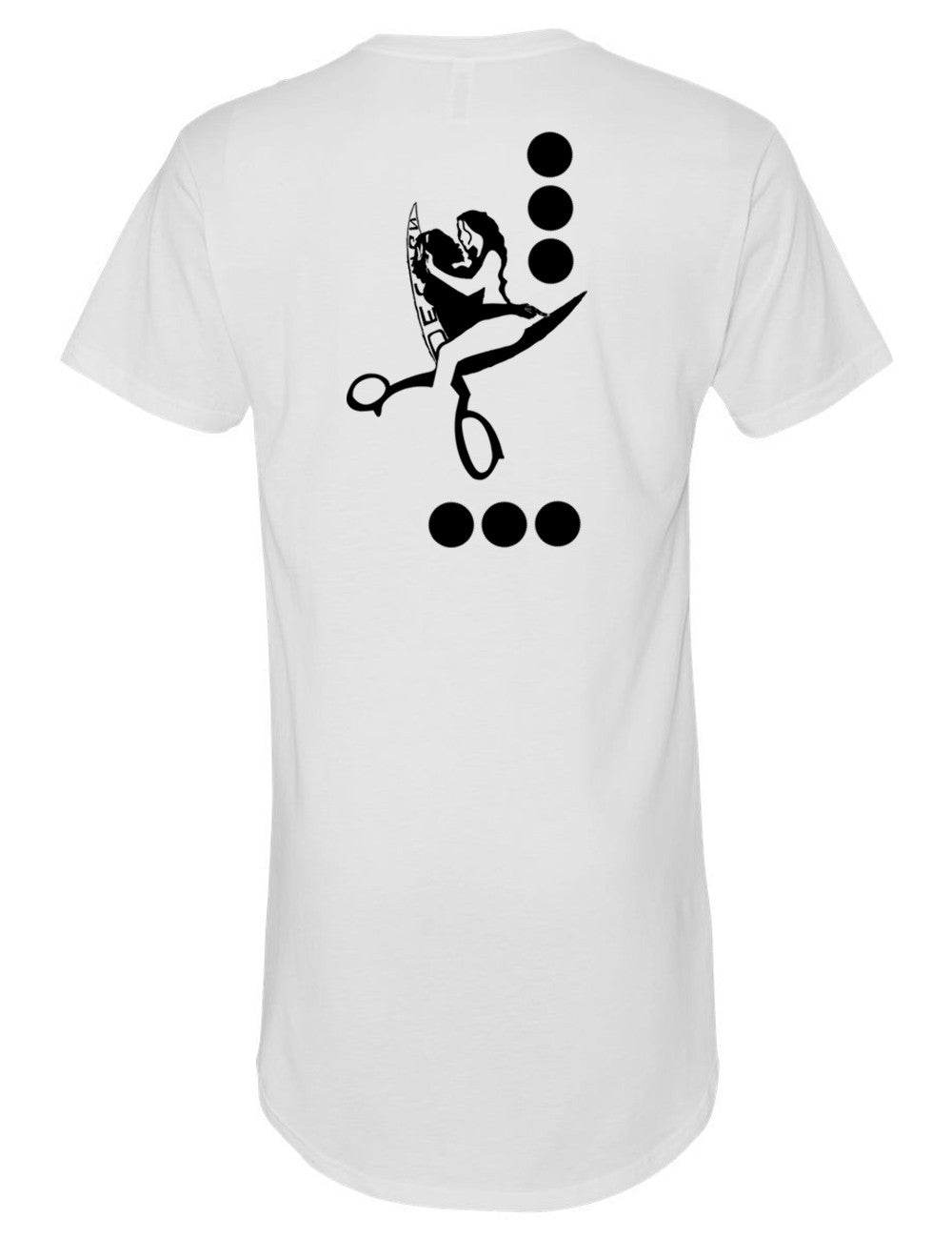 B&W Long Body T Shirt