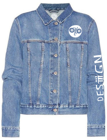 Skyline & Chain Link Denim Jacket