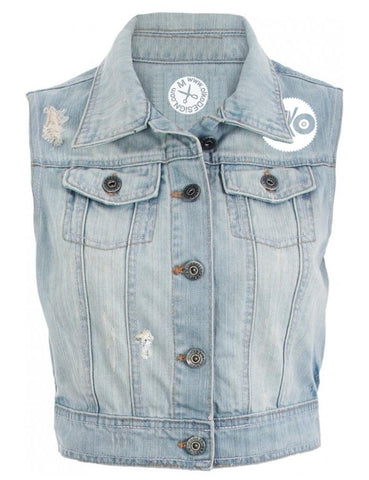 Colony Light Wash Denim Jean Vest