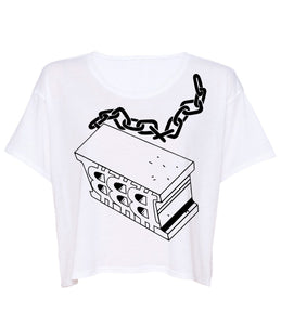 Block Chain Boxy Crop Tee