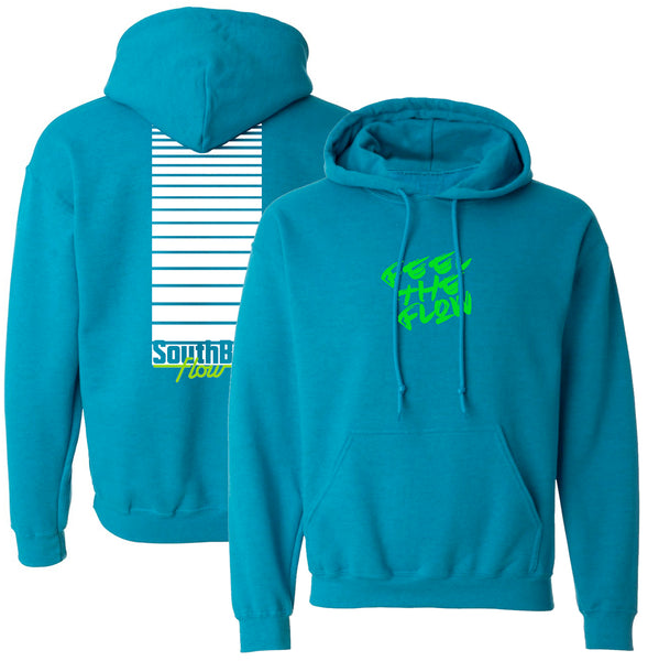 Feel The Flow Aqua Hoodie