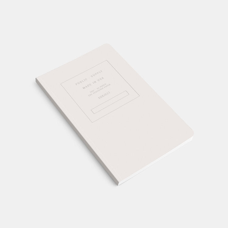 White Soft Cover Ruled Notebook