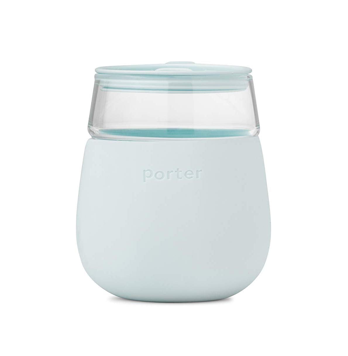 Silicone Wine Tumbler - Mint Blue
