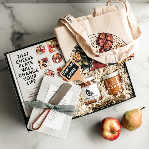 "This special edition gift was designed alongside Marissa Mullen of ""That Cheese Plate"" & is packed everything they'll need to make a gorgeous DIY cheese plate - just like her whimsical, savory creations! @thatcheeseplate"