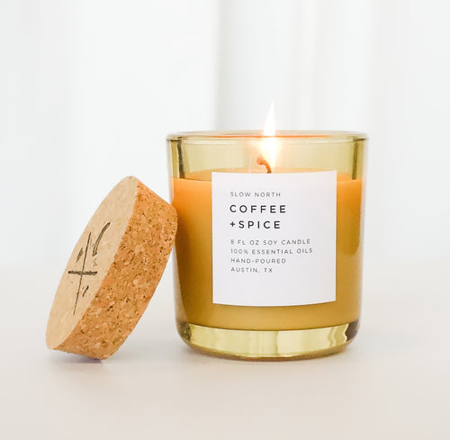 Large Coffee Spice Candle