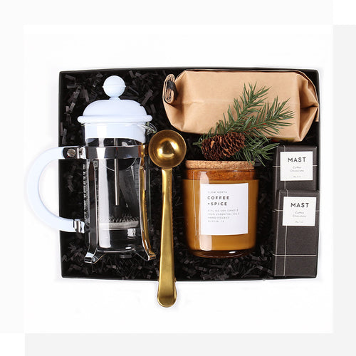 A Coffee-themed gift designed so they can to savor the scents and flavors of the season!