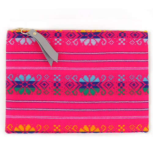 Pink Handmade Clutch by Gaia for Women
