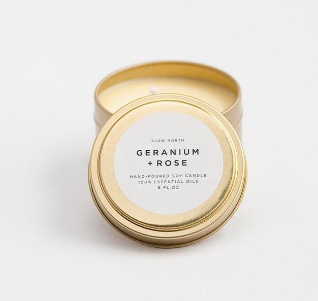 Geranium Rose Soy Candle