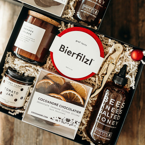 Send your best with this foodie forward gift! Whether you want to thank a gracious host or a generous client, warm a home, or send well wishes - this thoughtful package is the ultimate treat.
