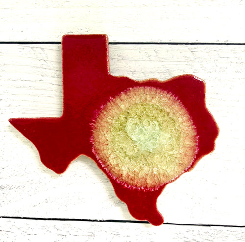Texas Geode Coaster Tamale Red