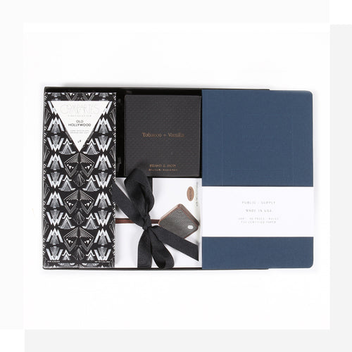 Sleek & sophisticated; a refined gift with essentials for the modern man - a luxurious way to make him feel properly spoiled!
