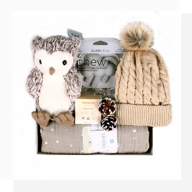 For winter babies, this soothing, calming gift is a joyful tribute to their special season - and a cozy, comforting way to welcome them to the world!