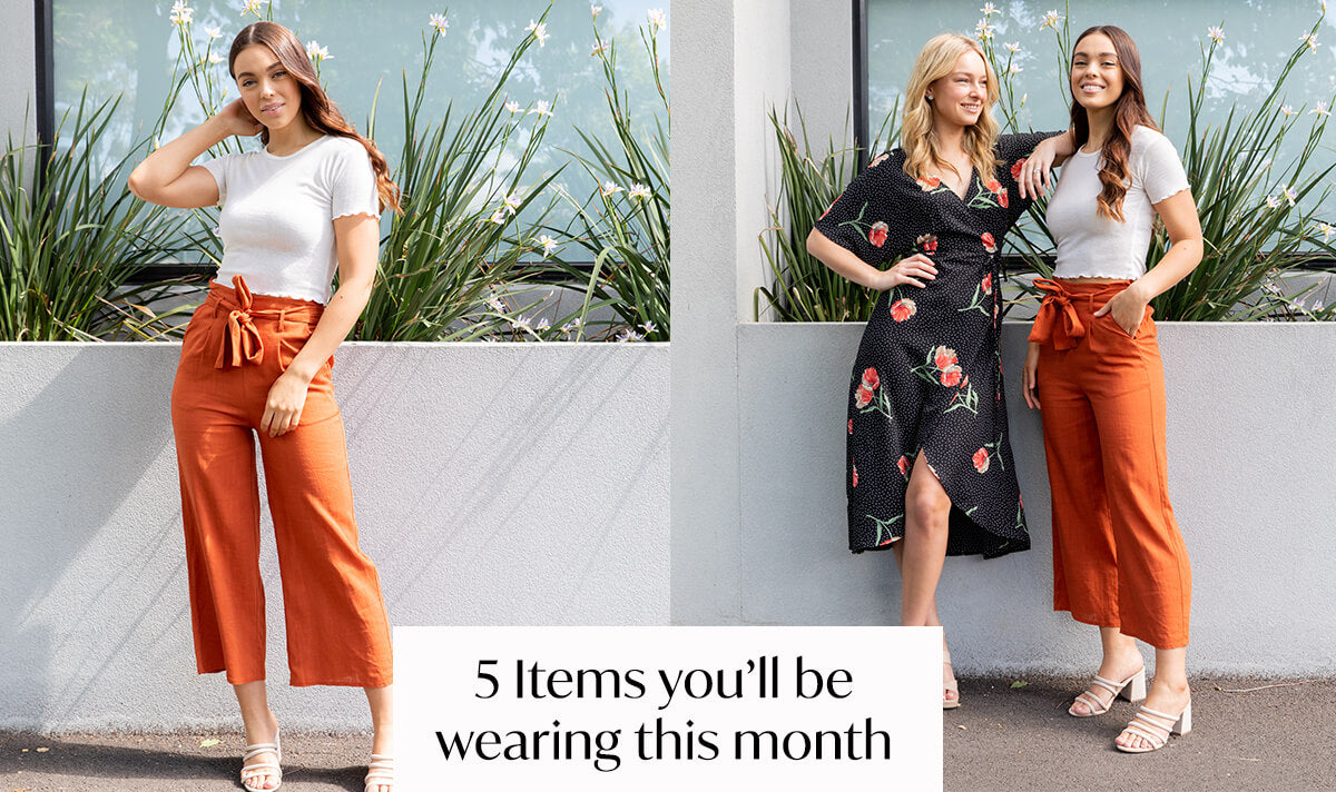 The 5 Items You Need to Be Wearing This Month