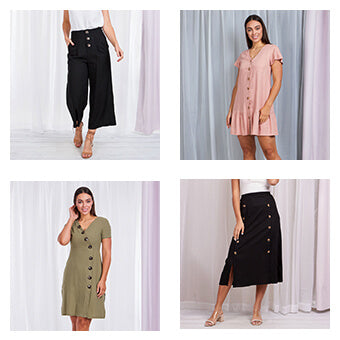 All Buttoned Up Collage | Femme Connection