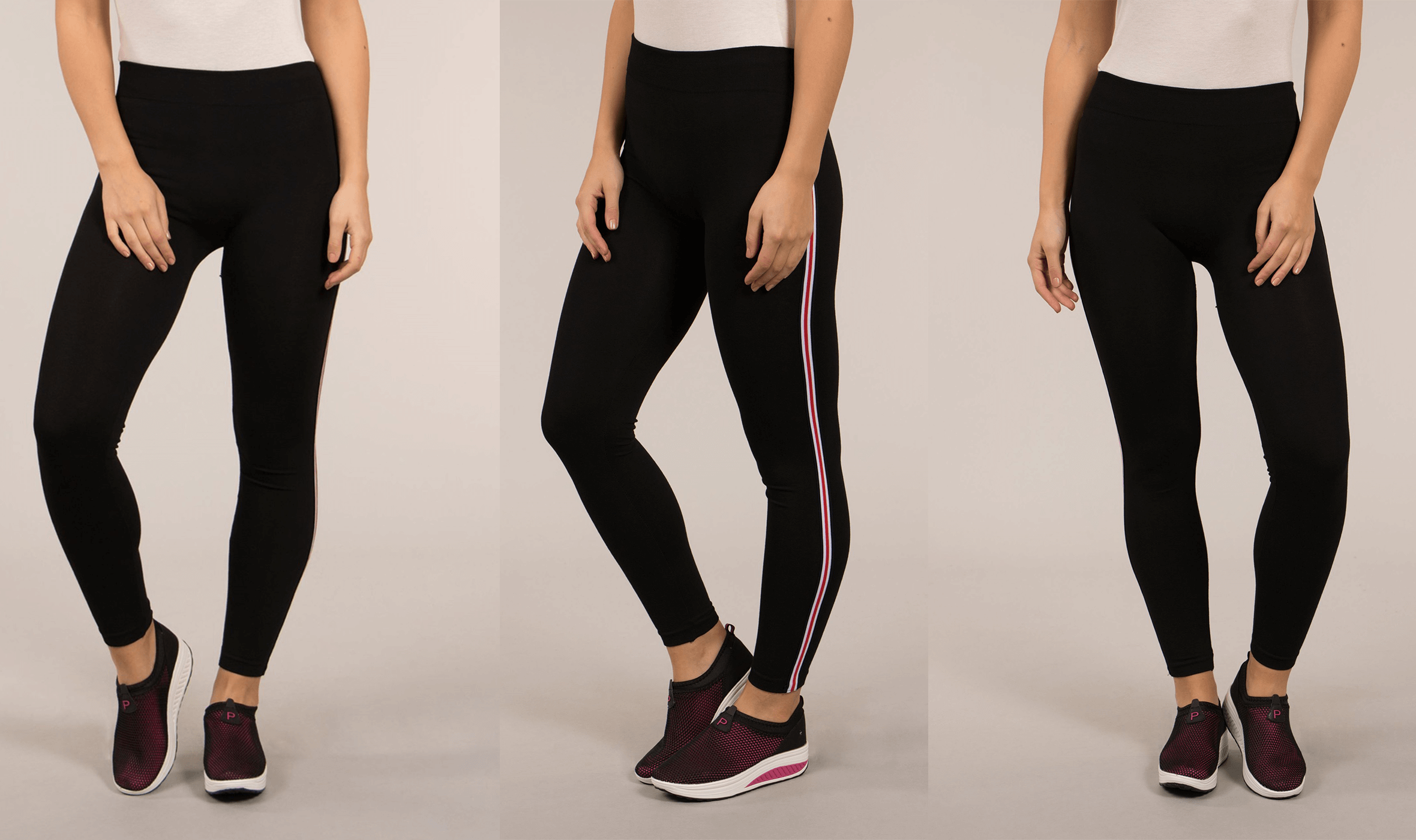 Athleisure: Relaxed AND Trendy - Stripe Trim Leggings | Femme Connection