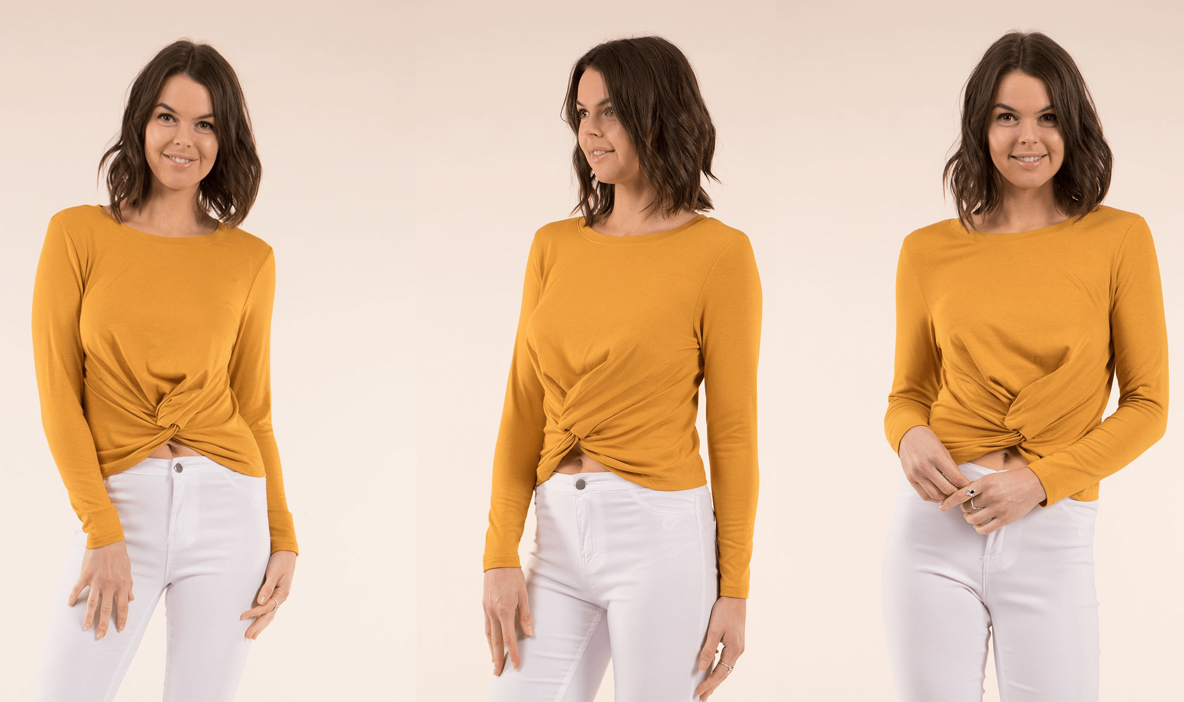 Colour Trend Mustard - Ruched Front Top | Femme Connection