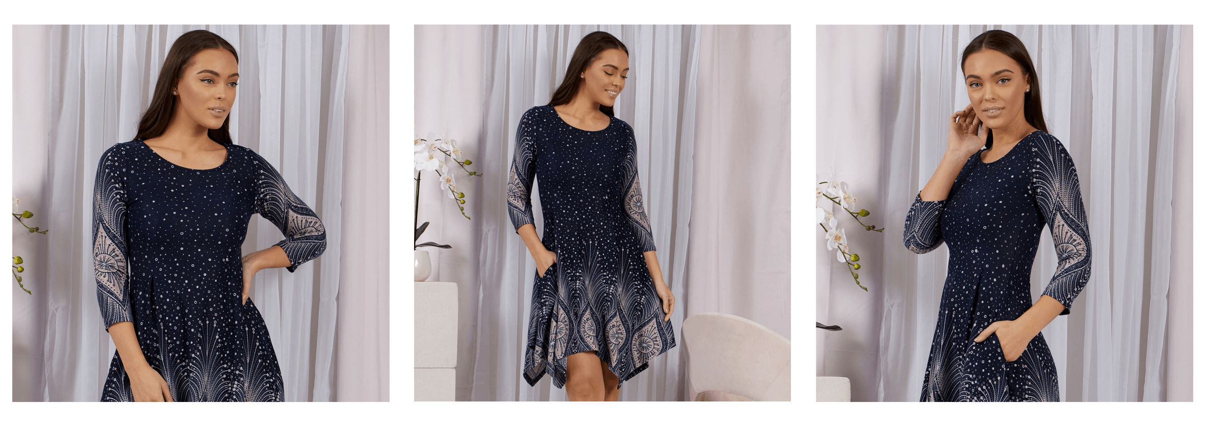 EOFYS Blowout - Printed Hanky Hem Dress - Femme Connection