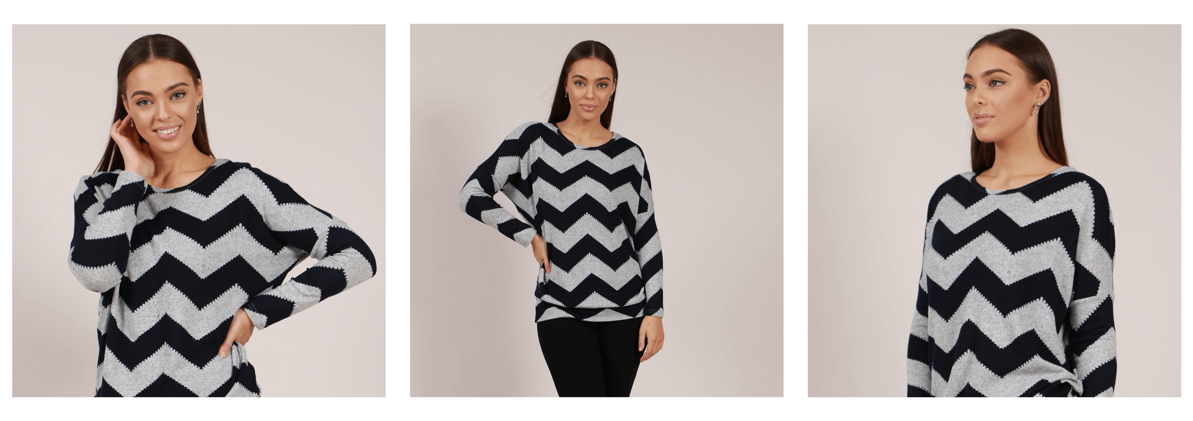 EOFYS Blowout - Zigzag Printed Top - Femme Connection