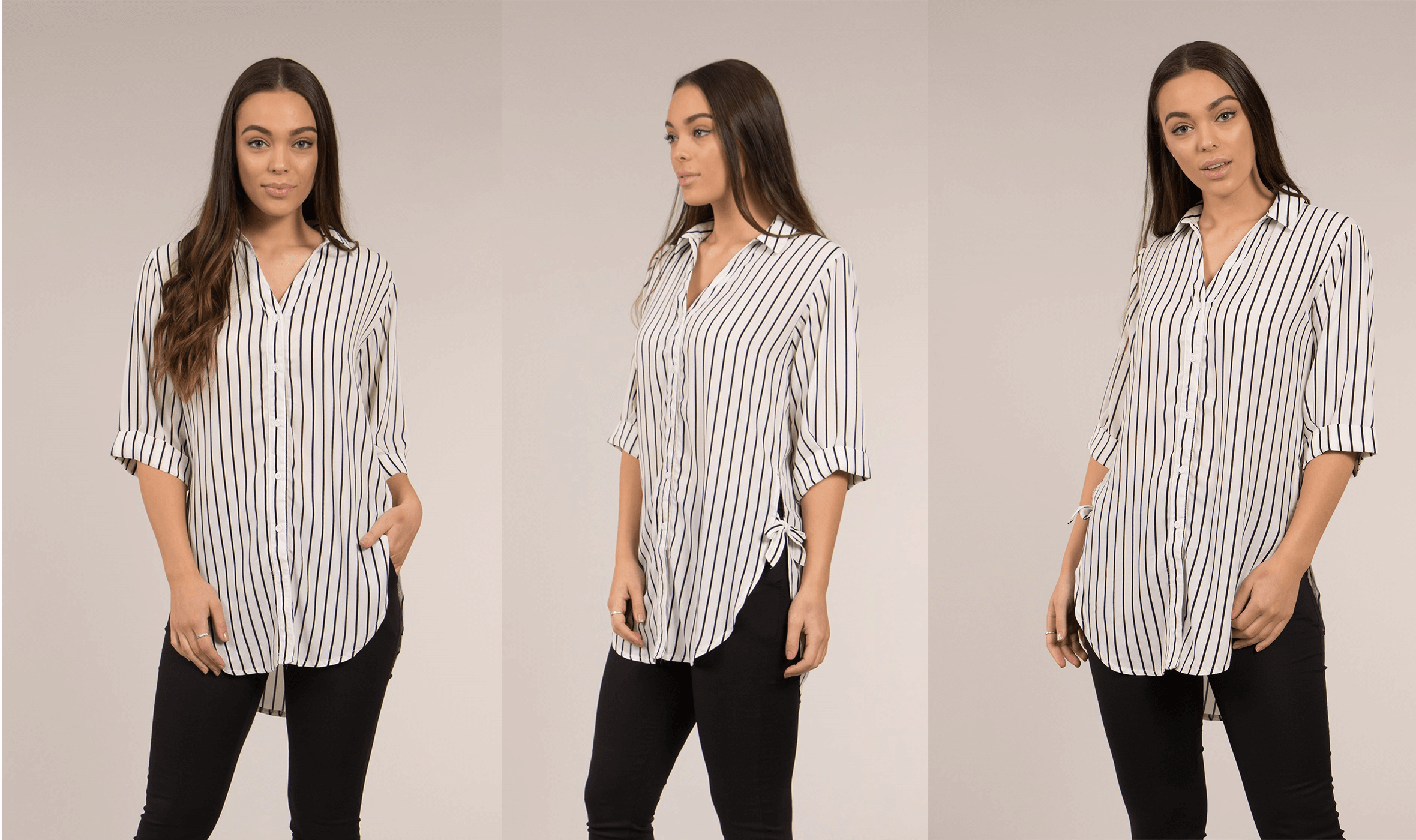 Easy, Breezy, and Professional Office Styles - 3/4 Sleeve Shirt | Femme Connection