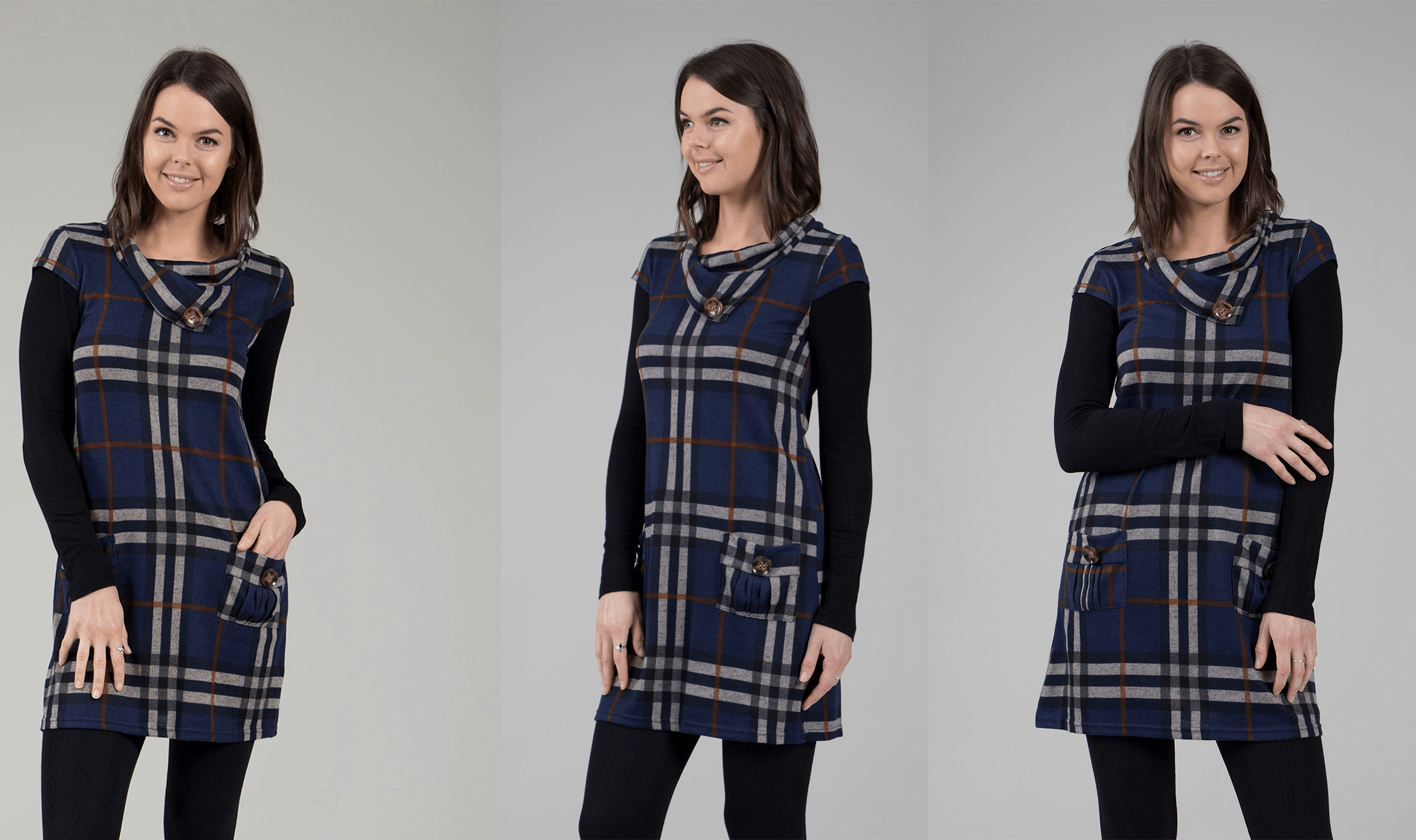 How To Get The Most Wear From Your Dresses - Checked Tunic Dress | Femme Connection